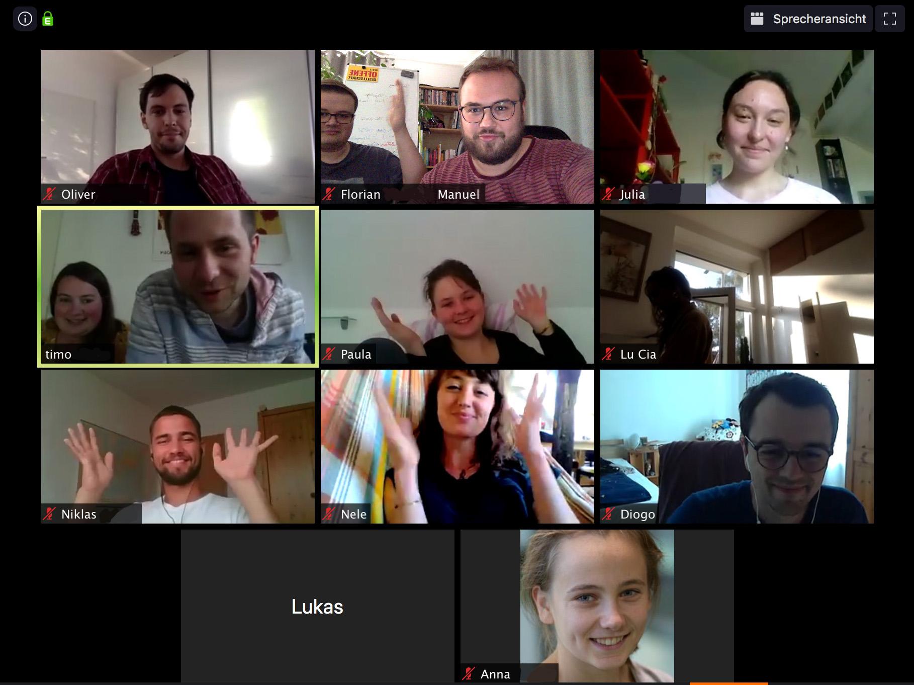 Sitzung, Zoom, Gründung, Mitglieder